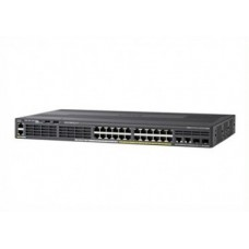 Cisco WS-C2960X-24PSQ-L 24 Ports, PoE+, Managed, L2, Rack mountable Gigabit Ethernet Switch